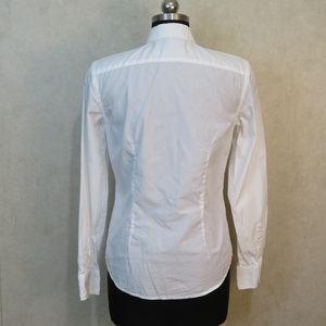 0713b5d2 Ralph Lauren Tops - Ralph Lauren Ruffle White Button Down Shirt Small